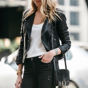 Top shop black faux leather jacket